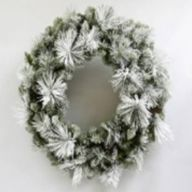 "30"" ELV Frosted Holiday Pine Wreath w/ Pinecones 155 Tips"