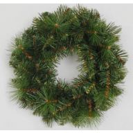 "12"" ELEVATED DESIGNER PINE WREATH 60 TIPS"