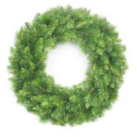 "42"" ELEVATED DESIGNER PINE WREATH TRIPLE RING 315 TIPS"