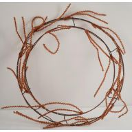 "24"" ROUND ELEVATED TWIG WORK WREATH DOUBLE RING 36 TIPS-TWIG"