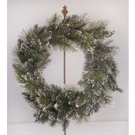 "24 "" Wintry Mix Pine Bristle Wreath X104 Tips"
