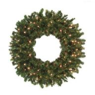 "18 "" Canadian Pine Wreath x 70 Tips Double w / 50 Clear Lights"