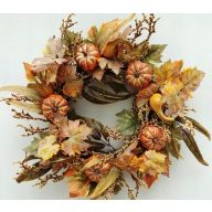 """24"""" Pumpkin Gourd Wreath"""