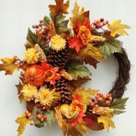 "22"" Fall Mix Wreath"