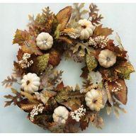 """22"""" Pumpkin Berry Wreath"""