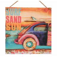 3D Beach Car Plaque