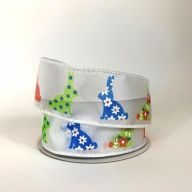 """1.5"""" X 10yd Wired Ribbon Multi Color Bunnies"""