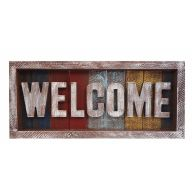 3D Wood Welcome Sign - Multi