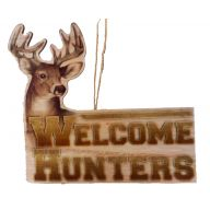 "9.5 "" Welcome Hunters Deer Plaque"