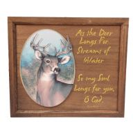 "12 X 14 "" Deer Psalm Plaque"