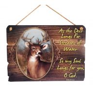 "12 X .25 X 8.5 "" Deer Psalms Plaque"