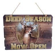 """12 X .25 X 8.5 """" Deer Season Plaque"""