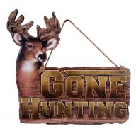 "11.5 X .25 X 11 "" Gone Hunting Deer Plaque"