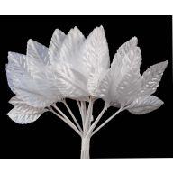 "2.25 "" White 3 Leaf Corsage Leaves ( 12/Pk )"