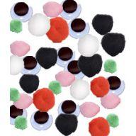 Assorted Craft Eyes & Pom Poms