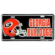 "6 X 12 "" Georgia Bulldogs & Helmet Tag"