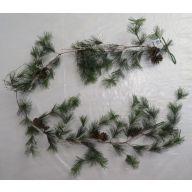 6' Needle Pine Garland Iced