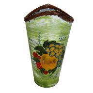 "11.5""H X 5""D Painted Tall Metal Vase"