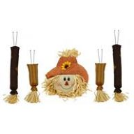 "5 PC 31 "" H Scarecrow Decor Kit - Orange / Brown / Beige"