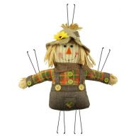 "13""L X 12""H Mini Scarecrow Boy - Moss / Orange / Rust / Natural"