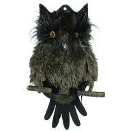 "19 "" Fur Owl on Branch - Brown"