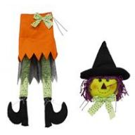 "2 PC 32 "" H Witch Decor Kit - Orange / Black / Lime / Purple"