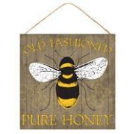 "10 "" sq Old Fashioned Pure Honey - Brown / Yellow / Black /White"