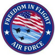 "12 "" DIA Metal Freedom In Flight Airforce - Red / White / Blue / Black"