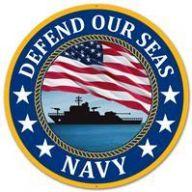 "12 "" DIA Metal Defend Our Seas Navy - Blue / Red /  White / Yellow / Black"