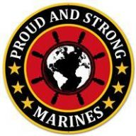 "12 "" DIA Metal Proud And Strong Marines - Red / Black / Yellow / White"