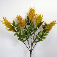 "X7 Plastic Flocked Astible Bush 21"" - Orange Yellow"