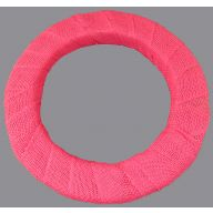 "16 "" EPS Styrofoam Wreath Wrapped in Burlap Ribbon - Pink"