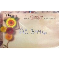 "Enclosure Card 50 pk - ""TO A GREAT ASSISTANT"""