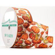 50yd Wired Pumpkin Patch Ribbon