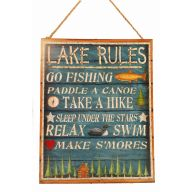 Lake Rules Wooden Plaque
