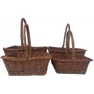 S / 4 Rectangle Vine Basket w / No Liner