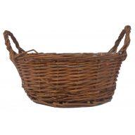 Round Vine Basket w / Sewn in Liner