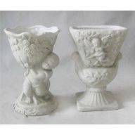 Ceramic Urn 2 Assorted Styles 5 x 4 x 7.5 ""