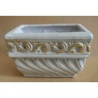 Square Ceramic Planter 7.5 x 5 x 4.75 ""