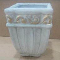 """Ceramic Square Planter 4.75 x 4.75 x 6.25 """""""
