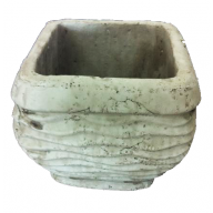 Ceramic Square Planter 5.75 x 5.75 x 5.25 ""