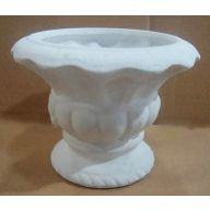 Ceramic Footed Urn 6.5 x 4.75 ""