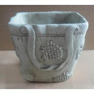 Ceramic Rectangle Planter 5.75 x 4.5 x 5 ""
