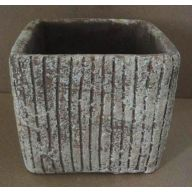 Square Ceramic Planter 4.75 x 4.75 x 4 ""