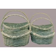 S / 4 Oval Willow w / Hard Liner - Greywash