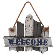 "11 "" Wood Welcome Fence Plaque"