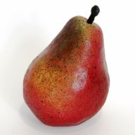 "4"" Pear (Pack Of 6) - Red"