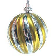 """2.5 """" Spiral Ball - Gold / Silver"""
