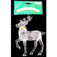 "5 "" Reindeer Ornament W / Gold Collar"