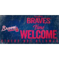 "6 x 12 "" Fans Welcome Sign - Atlanta Braves"